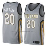 Maillot Cleveland Cavaliers Billy Preston #20 Ville 2018 Gris