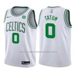 Maillot Enfant Boston Celtics Jayson Tatum #0 Association 2017-18 Blanc