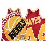 Maillot Houston Rockets Elvin Hayes #44 Mitchell & Ness Big Face Rouge