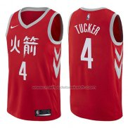 Maillot Houston Rockets P.j. Tucker #17 Ville Edition Rouge