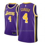 Maillot Los Angeles Lakers Alex Caruso #4 Statement 2018-19 Volet