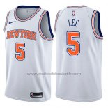 Maillot New York Knicks Courtney Lee #5 Statement 2017-18 Blanc