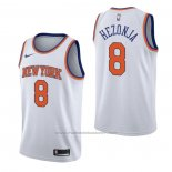 Maillot New York Knicks Mario Hezonja #8 Association Blanc