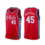 Maillot Philadelphia 76ers Ryan Broekhoff #45 Statement Rouge