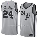 Maillot San Antonio Spurs Darrun Hilliard #24 Statement 2018 Gris