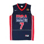 Maillot USA 1992 Larry Bird #7 Noir