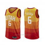Maillot Utah Jazz Rayjon Tucker #6 Ville Orange
