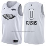 Maillot All Star 2018 New Orleans Pelicans Demarcus Cousins #0 Blanc