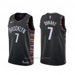Maillot Brooklyn Nets Kevin Durant #7 Ville Noir