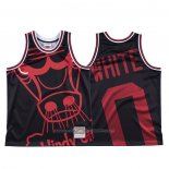 Maillot Chicago Bulls Coby White #0 Mitchell & Ness Big Face Noir