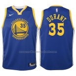 Maillot Enfant Golden State Warriors Kevin Durant #35 2017-18 Bleu