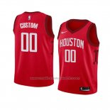 Maillot Enfant Houston Rockets Personnalise Earned 2018-19 Rouge