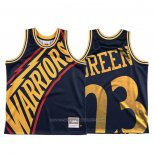 Maillot Golden State Warriors Draymond Vert #23 Mitchell & Ness Big Face Bleu