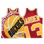 Maillot Houston Rockets James Harden #13 Mitchell & Ness Big Face Rouge