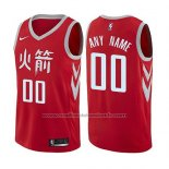 Maillot Houston Rockets Personnalise Ville 2017-18 Rouge
