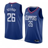 Maillot Los Angeles Clippers Angel Delgado #26 Icon 2018 Bleu