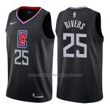Maillot Los Angeles Clippers Austin Rivers #25 Statement 2019 Noir