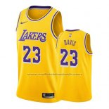 Maillot Los Angeles Lakers Anthony Davis #23 Icon 2019-20 Jaune