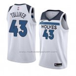 Maillot Minnesota Timberwolves Anthony Tolliver #43 Association 2018 Blanc