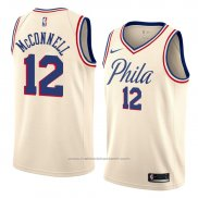 Maillot Philadelphia 76ers T.j. Mcconnell #12 Ville 2018 Crema