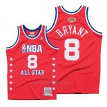 Maillot All Star 2003 Kobe Bryant #8 Autentico Hardwood Classics Rouge