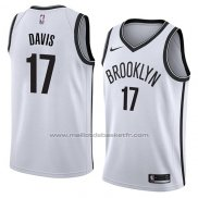 Maillot Brooklyn Nets Ed Davis #17 Association 2018 Blanc