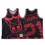 Maillot Chicago Bulls Thaddeus Young #21 Mitchell & Ness Big Face Noir