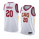 Maillot Cleveland Cavaliers Brandon Knight #20 Association 2018 Blanc