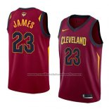 Maillot Cleveland Cavaliers Lebron James #23 Icon 2017-18 Finals Bound Rouge