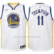 Maillot Enfant Golden State Warriors Klay Thompson #11 2017-18 Blanc