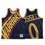 Maillot Golden State Warriors D'angelo Russell #0 Mitchell & Ness Big Face Bleu