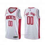 Maillot Houston Rockets Personnalise Association Blanc