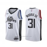 Maillot Los Angeles Clippers Marcus Morris Sr. #31 Ville Blanc