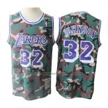 Maillot Los Angeles Lakers Magic Johnson #32 Camouflage Vert