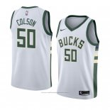 Maillot Milwaukee Bucks Bonzie Colson #50 Association 2018 Blanc