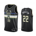 Maillot Milwaukee Bucks Khris Middleton #22 Statement 2020-21 Noir
