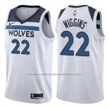 Maillot Minnesota Timberwolves Andrew Wiggins #22 2017-18 Blanc