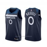 Maillot Minnesota Timberwolves D'angelo Russell #0 Icon Bleu