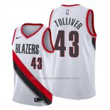 Maillot Portland Trail Blazers Anthony Tolliver #43 Association Blanc