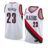 Maillot Portland Trail Blazers Cameron Oliver #23 Association 2018 Blanc