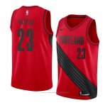 Maillot Portland Trail Blazers Cameron Oliver #23 Statement 2018 Rouge
