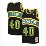 Maillot Seattle SuperSonics Shawn Kemp #40 Mitchell & Ness 1994-95 Noir