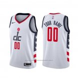 Maillot Washington Wizards Personnalise Ville Blanc2