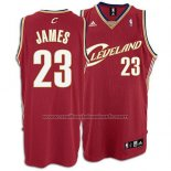 Maillot Cleveland Cavaliers LeBron James #23 Retro Rouge