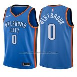 Maillot Enfant Oklahoma City Thunder Russell Westbrook #0 Icon 2017-18 Bleu
