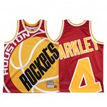 Maillot Houston Rockets Charles Barkley #4 Mitchell & Ness Big Face Rouge