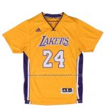 Maillot Manche Courte Los Angeles Lakers Kobe Bryant #24 Jaune