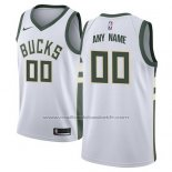 Maillot Milwaukee Bucks Personnalise 17-18 Blanc
