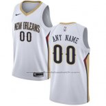 Maillot New Orleans Pelicans Personnalise 17-18 Blanc
