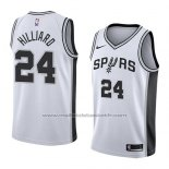 Maillot San Antonio Spurs Darrun Hilliard #24 Association 2018 Blanc